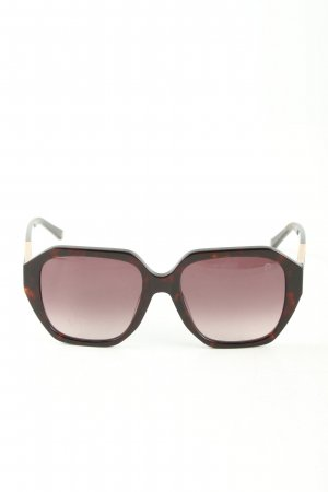 Aigner Retro Glasses brown-nude abstract pattern casual look