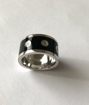 Aigner Anello d'argento argento-nero