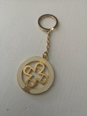 Aigner Porte-clés doré-crème métal