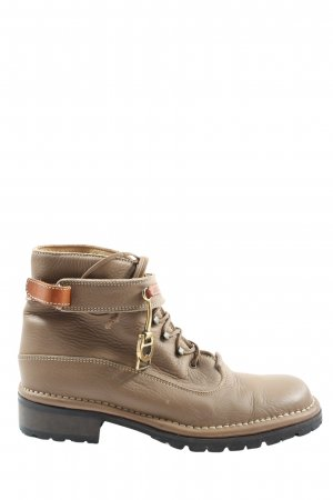 Aigner Lace-up Booties brown casual look