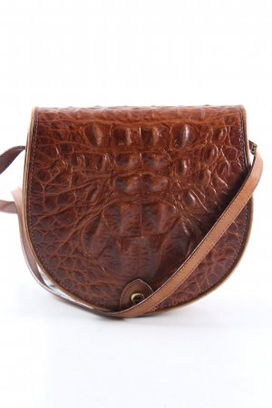 Aigner Sac porté épaule brun motif animal style décontracté