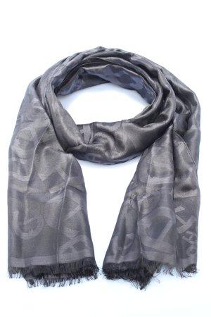 Aigner Sciarpa di seta grigio chiaro stile casual