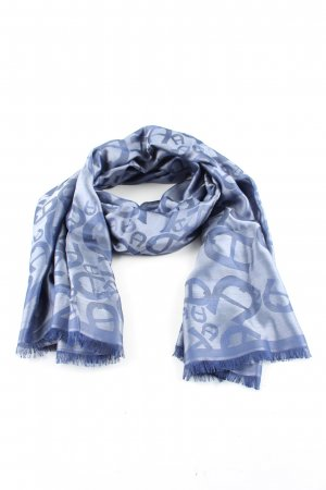Aigner Silk Cloth blue abstract pattern casual look