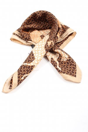 Aigner Silk Cloth brown-natural white themed print casual look