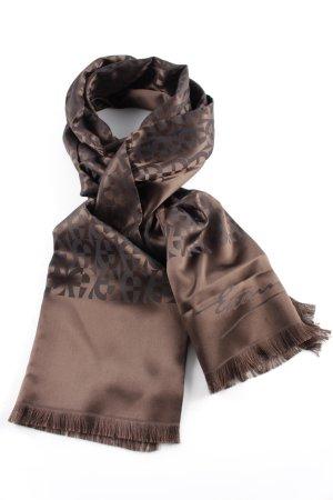 Aigner Foulard en soie brun-noir style mouillé