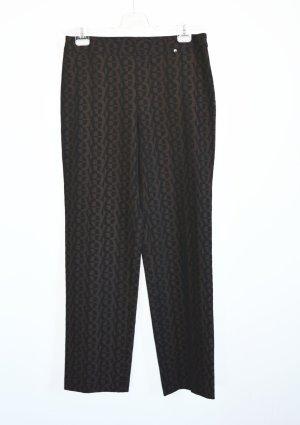 Aigner Stretch Trousers black-brown mixture fibre