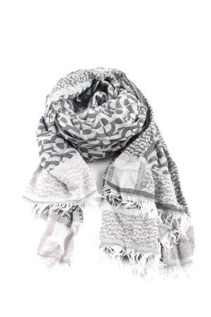 Aigner Écharpe d'été gris clair-noir imprimé allover style décontracté