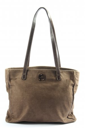 Aigner Canvas Bag brown casual look
