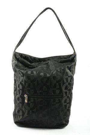 Aigner Canvas Bag black allover print casual look