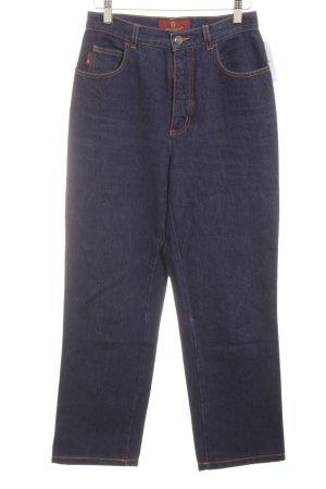 Aigner Straight Leg Jeans dark blue casual look