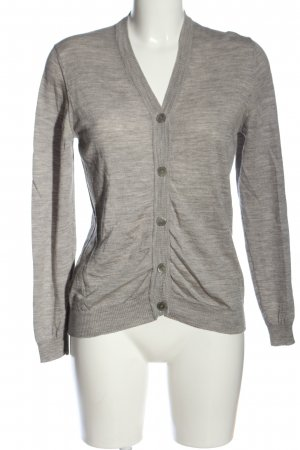 Aigner Knitted Cardigan light grey flecked casual look