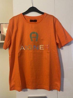Aigner T-shirt pomarańczowy