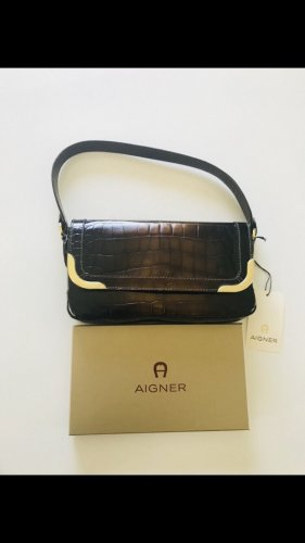 Aigner Carry Bag bronze-colored-gold-colored leather