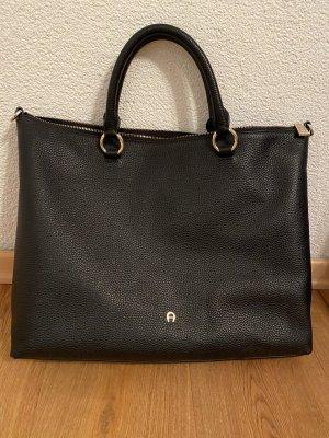 Aigner Shopper black leather