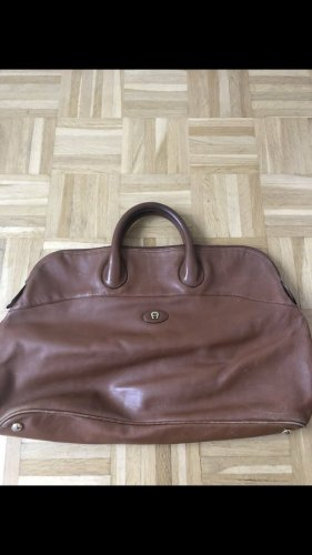 Aigner Weekender Bag cognac-coloured leather