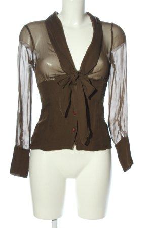Aigner Transparenz-Bluse braun Elegant