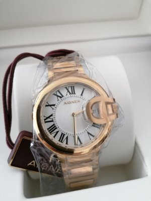 Aigner Watch With Metal Strap gold-colored metal