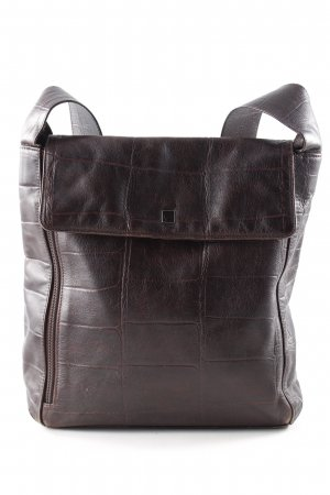 Aigner Crossbody bag brown animal pattern business style