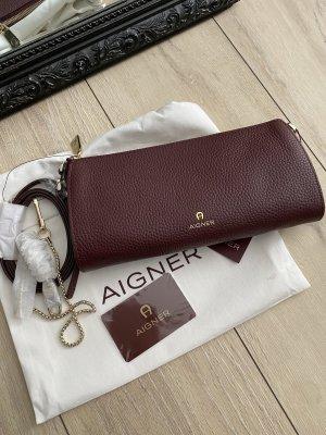 Aigner Crossbody bag bordeaux-brown red