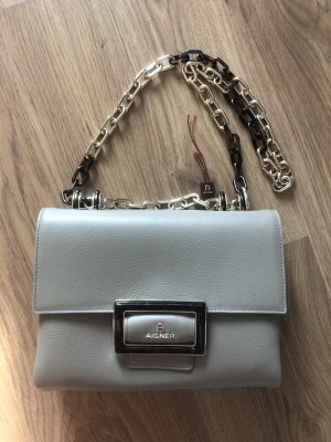 Aigner Crossbody bag silver-colored leather