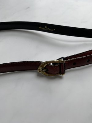 Etienne Aigner Leather Belt brown red
