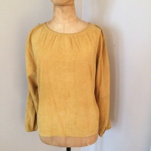 Aigner Leather Blouse yellow leather