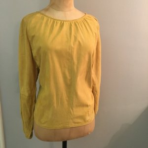 Aigner Leather Blouse dark yellow leather
