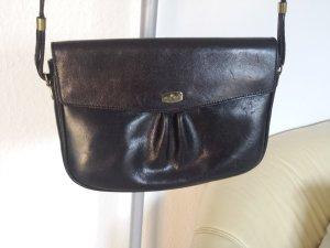 Aigner Vintage Tasche Schultertasche Crossover wie Neu Echt Leder Schwarz