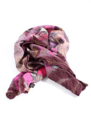 Aigner Sciarpa di lana rosa-rosso stile casual