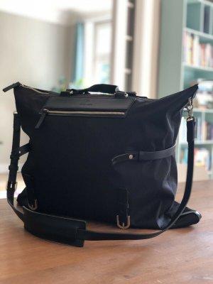 AIGNER XL-Tasche, Leder/Textil, Schwarz, unisex, Crossbody