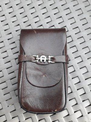 Aigner Mini Bag bordeaux leather
