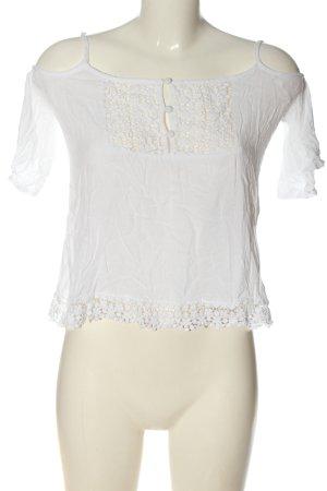 Aiki Bluzka typu carmen biały W stylu casual