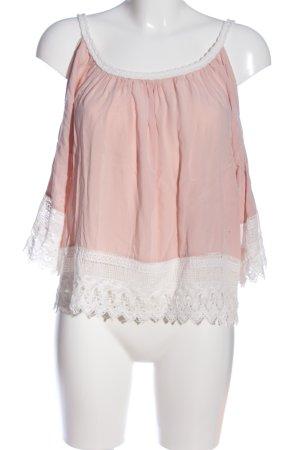 AIKI KEYLOOK Carmen Blouse pink-white casual look
