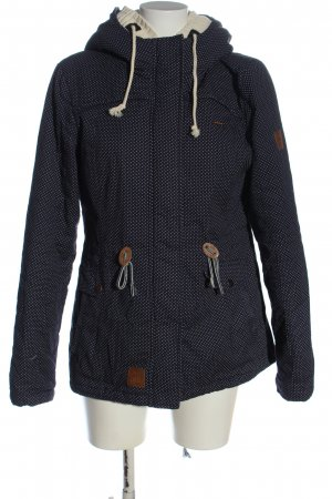 AIKI KEYLOOK Double Jacket blue-natural white spot pattern casual look
