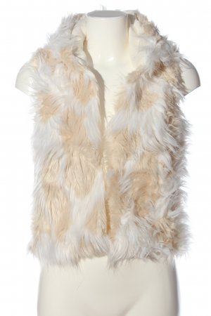 AIKI KEYLOOK Fur vest natural white-white casual look