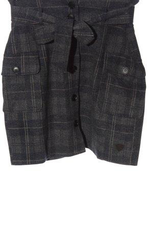AIKI KEYLOOK High Waist Skirt check pattern casual look