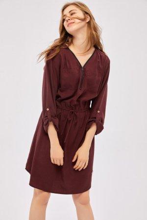 AIKI KEYLOOK A Line Dress bordeaux
