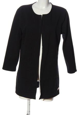 AIKI KEYLOOK Short Blazer black striped pattern casual look