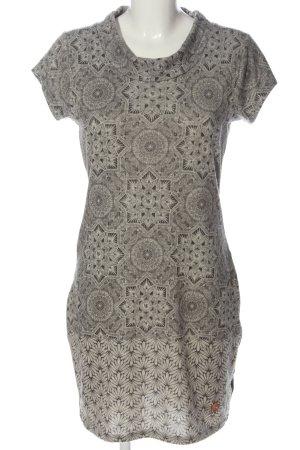 AIKI KEYLOOK Shortsleeve Dress light grey allover print casual look
