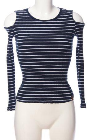 AIKI KEYLOOK Bluzka z długim rękawem niebieski-biały Wzór w paski