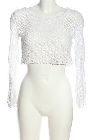 AIKI KEYLOOK Long Sleeve Blouse white casual look