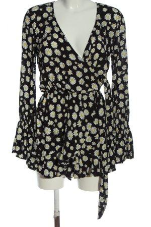 AIKI KEYLOOK Longsleeve Dress allover print casual look