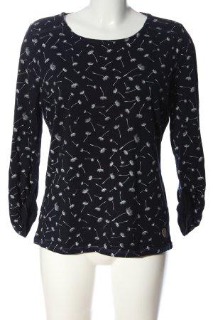 AIKI KEYLOOK Longsleeve black-white allover print casual look