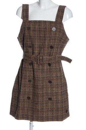 AIKI KEYLOOK Mini Dress brown-black check pattern casual look