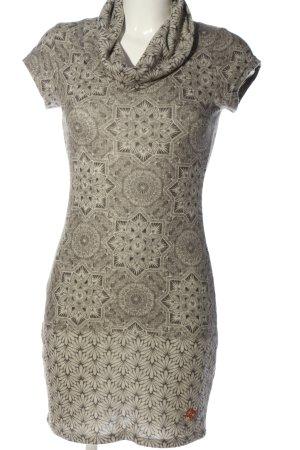 AIKI KEYLOOK Sukienka mini khaki Abstrakcyjny wzór W stylu casual