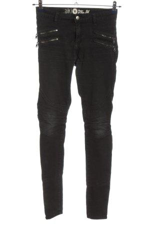 AIKI KEYLOOK Tube jeans zwart casual uitstraling