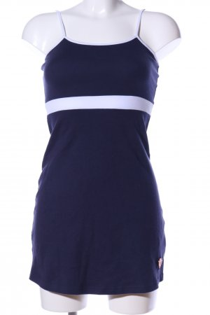 AIKI KEYLOOK Pinafore dress blue-white striped pattern casual look