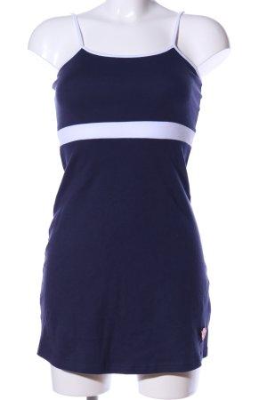 AIKI KEYLOOK Robe à bretelles bleu-blanc motif rayé style décontracté