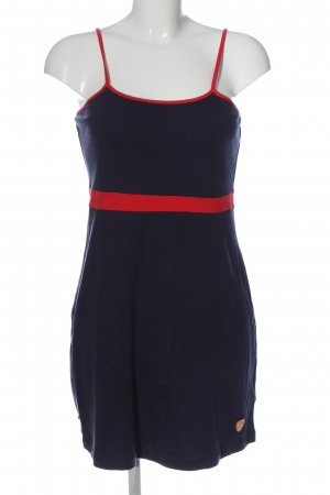 AIKI KEYLOOK Pinafore dress blue-red casual look