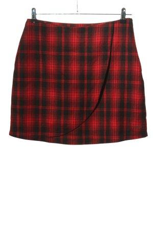 AIKI KEYLOOK Wraparound Skirt red-black check pattern casual look